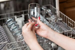Foodservice -An image of a Clean drinking glass coming out of a dishwasher