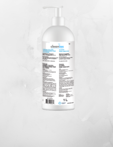 Alcohol Hand Sanitizers_Single image of Gel with Pump bottle with Cleanios brand